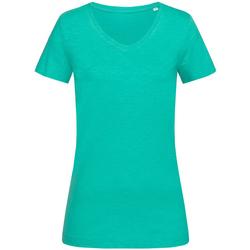 Kleidung Damen T-Shirts Stedman Stars  Bahama-Grün