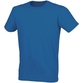 Kleidung Herren T-Shirts Skinni Fit SF121 Blau meliert