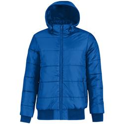 Kleidung Herren Daunenjacken B And C Bomber Royal Blau/Neon Orange