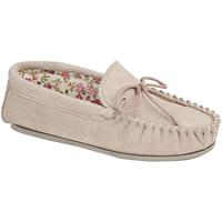 Schuhe Damen Hausschuhe Mokkers Lily Steinfarben