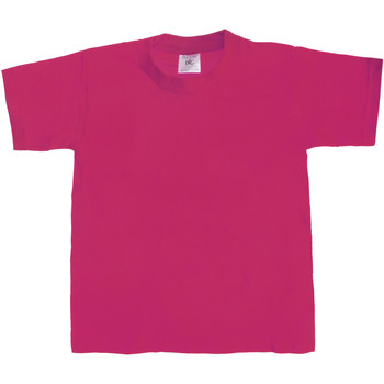 Kleidung Kinder T-Shirts B And C TK301 dunkles Pink