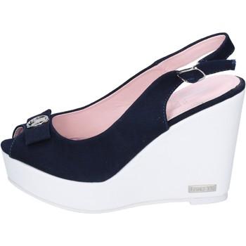Schuhe Damen Sandalen / Sandaletten Lancetti sandalen segeltuch blau