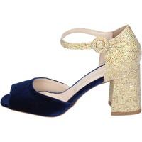 Schuhe Damen Sandalen / Sandaletten Olga Rubini sandalen samt blau