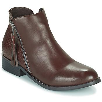 Schuhe Damen Boots Xti  Braun