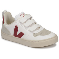 Schuhe Kinder Sneaker Low Veja SMALL-V-10-VELCRO Weiss / Bordeaux