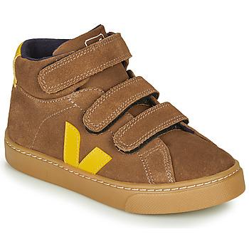 Schuhe Kinder Sneaker High Veja SMALL-ESPLAR-MID Braun / Gelb