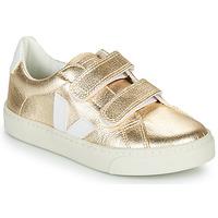 Schuhe Mädchen Sneaker Low Veja SMALL-ESPLAR-VELCRO Gold / Weiss
