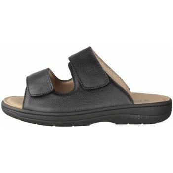 Schuhe Herren Sandalen / Sandaletten Slowlies Offene 210 Schwarz - Pantolette - , Schwarz, leder schwarz