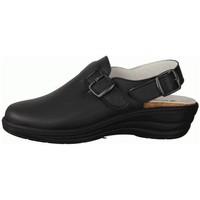 Schuhe Damen Pantoletten / Clogs Slowlies Slipper 180 Schwarz - Clogs - , Schwarz, leder (nappa) schwarz