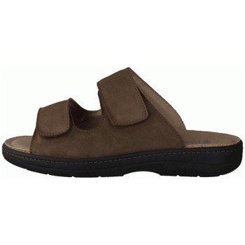 Schuhe Herren Pantoffel Slowlies Offene 210 Mocca () - Pantolette - , Braun, leder (nubuk) braun