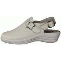 Schuhe Damen Pantoletten / Clogs Slowlies Pantoletten 180 Weiss - Clogs Weiß - , Weiß, leder (nappa) weiß