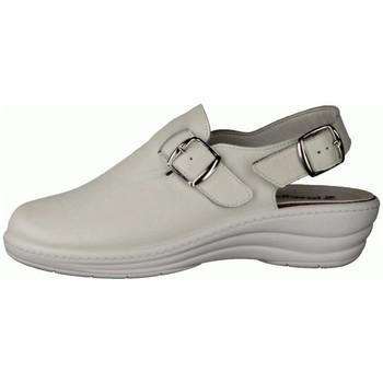 Schuhe Damen Pantoletten / Clogs Slowlies Pantoletten 180 Weiß - Clogs - , Weiß, leder (nappa) weiß