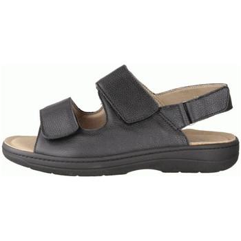 Schuhe Herren Sandalen / Sandaletten Slowlies Offene 220 () - Sandale - , Schwarz, leder (nubuk) schwarz