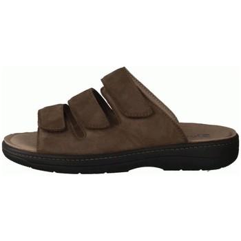 Schuhe Herren Pantoffel Slowlies Offene 215 Mocca () - Pantolette - , Braun, leder (nubuk) braun