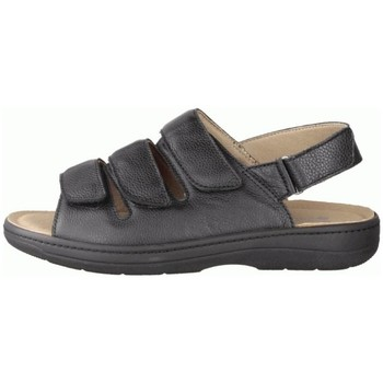 Schuhe Herren Sandalen / Sandaletten Slowlies Offene 230 Schwarz - Sandale - , Schwarz, leder (nappa) schwarz