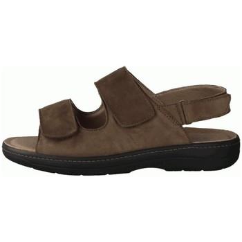 Schuhe Herren Sandalen / Sandaletten Slowlies Offene 220 Mocca () - Sandale - , Braun, leder (nubuk) braun