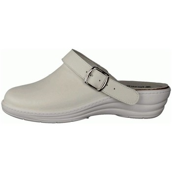 Schuhe Damen Pantoletten / Clogs Slowlies Pantoletten 160 Weiß - Clogs - , Weiß, leder (nappa) weiß