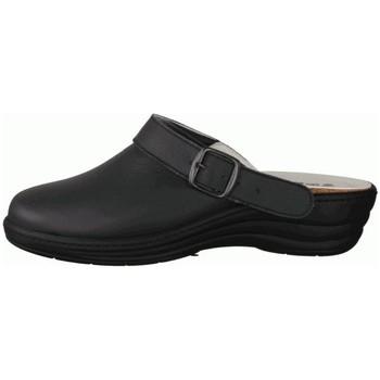 Schuhe Damen Pantoletten / Clogs Slowlies Pantoletten 160 Schwarz - Clogs - , Schwarz, leder (nappa) schwarz