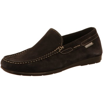 Schuhe Herren Slipper Mephisto Slipper Algoras Algoras Velours9895JeansBlue blau