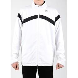Kleidung Herren Trainingsjacken K-Swiss Lifestyle Jacke  Accomplish WVN JCKT 100627-102 weiß, schwarz