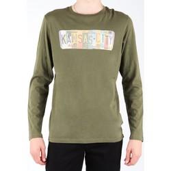 Kleidung Herren Langarmshirts Lee T-Shirt  L848AI olivgrün