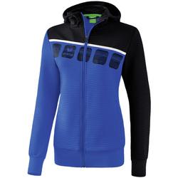 Kleidung Damen Trainingsjacken Erima Veste d'entrainement à capuche femme bleu/noir/blanc