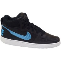 Schuhe Kinder Sneaker High Nike Court Borough Mid EP GS Schwarz