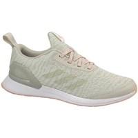 Schuhe Kinder Laufschuhe adidas Originals Rapidarun X Knit J Beige, Olivgrün