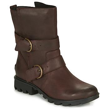 Schuhe Damen Schneestiefel Sorel PHOENIX MOTO Braun