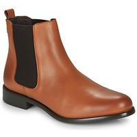 Schuhe Damen Boots André CARAMEL Cognac