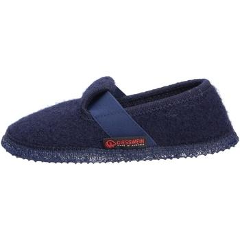 Schuhe Hausschuhe Giesswein Türnberg, Kinder Hüttenhauschuh blau