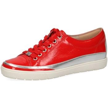 Schuhe Damen Sneaker Low Caprice Schnuerschuhe Roter Lackschnürschuh 23654-555 rot