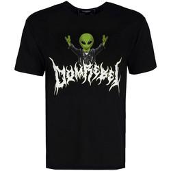 Kleidung Herren T-Shirts Domrebel  Schwarz