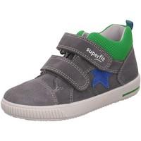 Schuhe Jungen Babyschuhe Superfit Klettschuhe KINDERSTIEFLETTEN LK \ MOPPY grau