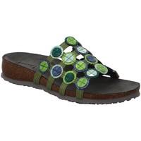 Schuhe Damen Pantoletten / Clogs Think Pantoletten Julia 86337-44 grün