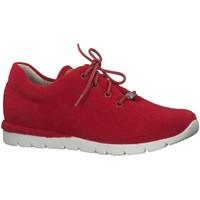 Schuhe Damen Sneaker Low Jana Schnuerschuhe rot