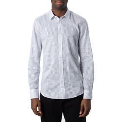 Kleidung Herren Langärmelige Hemden Antony Morato MMSL00587-FA430420 Bianco