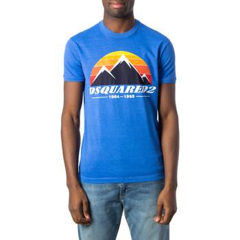 Kleidung Herren T-Shirts Dsquared S74GD0291 Blu