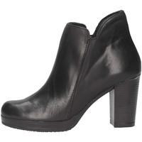 Schuhe Damen Ankle Boots Made In Italia 309 TROCHETTO Stiefeletten Frau schwarz schwarz