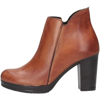 Schuhe Damen Ankle Boots Made In Italia 309 TROCHETTO Stiefeletten Frau Leder Leder