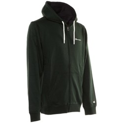 Kleidung Herren Sweatshirts Champion Sweatshirt Full Zip Hooded Logo Grün