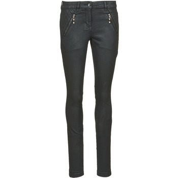 Kleidung Damen Slim Fit Jeans Tom Tailor LIRDO Schwarz / Lackschokolade