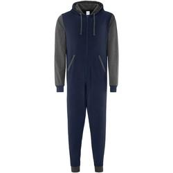 Kleidung Pyjamas/ Nachthemden Comfy Co CC003 Marineblau/Anthrazit