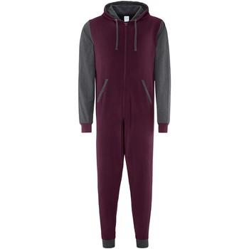 Kleidung Overalls / Latzhosen Comfy Co CC003 Burgunder/Anthrazit