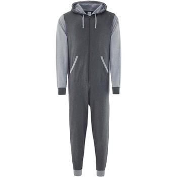 Kleidung Overalls / Latzhosen Comfy Co CC003 Anthrazit/Grau meliert
