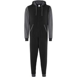 Kleidung Overalls / Latzhosen Comfy Co CC003 Schwarz/Anthrazit