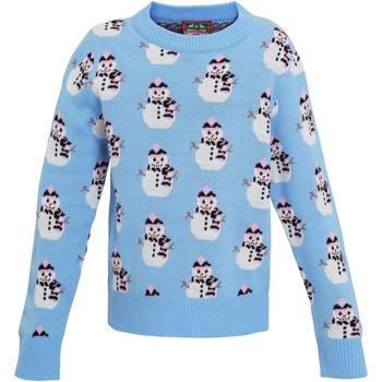 Kleidung Mädchen Sweatshirts Christmas Shop CS027 Hellblau