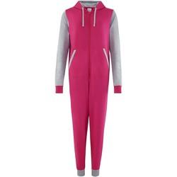 Kleidung Overalls / Latzhosen Comfy Co CC003 Pink/Grau meliert