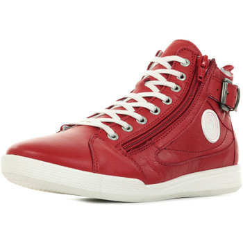 Schuhe Damen Sneaker High Pataugas Palme F2E Rot