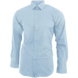 Kleidung Herren Langärmelige Hemden Brook Taverner BK130 Himmelblau